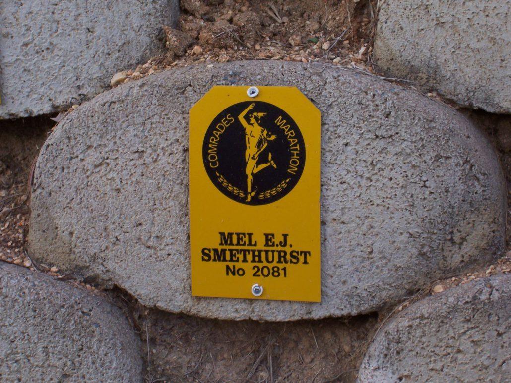 Melvyn Smethurst Comrades Plaque